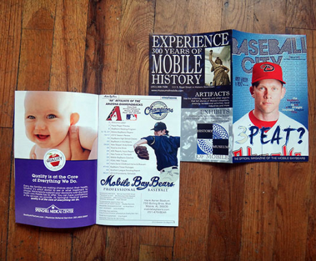 Mobile BayBears, Professional Baseball Magazine Design