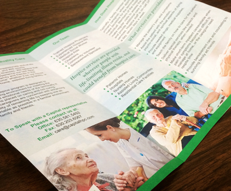 Capital Hospice Logo & Brochure Design
