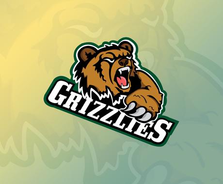 ASU Grizzlies Mascot Logo Design